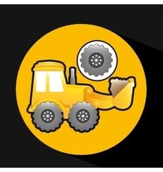 Excavator truck gear wheel icon graphic vector