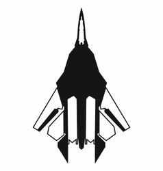 Fighter jet icon simple style vector image
