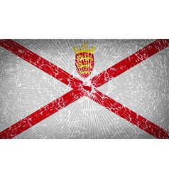 Flags Jersey with broken glass texture vector