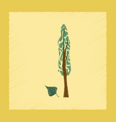 flat shading style plant populus vector image