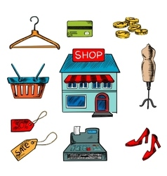 Flat shopping icons for household appliances vector