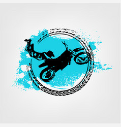 Flying motorcycle element vector