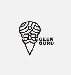 Geek guru logo vector