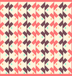 geometric seamless pattern background with fish vector image