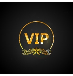 Golden VIP card black ornate background with vector