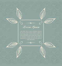 gray-blue calligraphic elements vector image vector image
