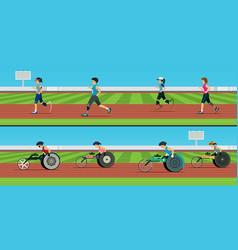 Handicapped sprinter vector
