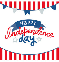happy 4th july - independence day card vector image