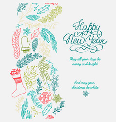 happy new year design concept vector image