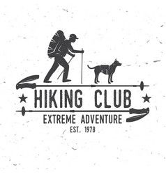 Hiking club extreme adventure vector