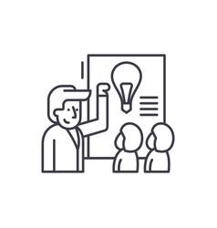 idea presentation line icon concept idea vector image