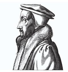 John Calvin vector image