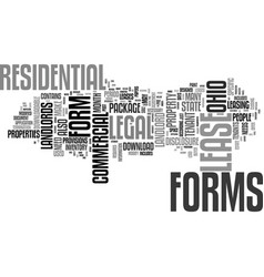Legal forms for landlords in ohio text background vector