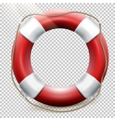 Life buoy isolated on transparent EPS 10 vector