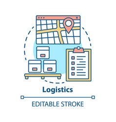 Logistics distribution concept icon warehouse vector