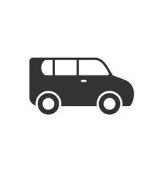 minivan or passenger van glyph icon vector image