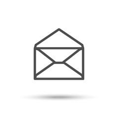 Opened envelope icon Mail icon vector image