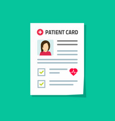 Patient card isolated flat vector