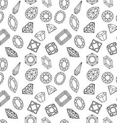 Pattern of circuit cut gems vector