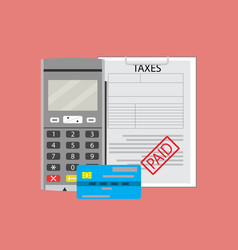 Payment transaction tax vector