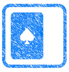 Peaks playing card framed grunge icon vector