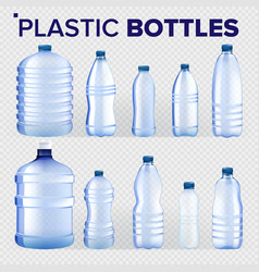 plastic bottles set different types of vector image