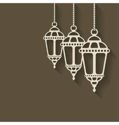 Ramadan lantern background vector image
