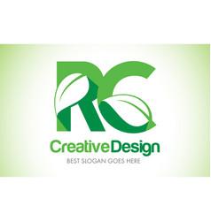Rc green leaf letter design logo eco bio leaf vector