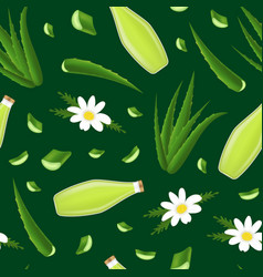 realistic detailed 3d aloe vera product seamless vector image