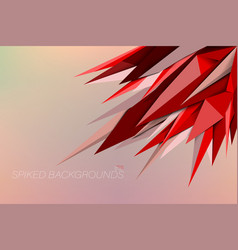 Red colors spiked backgrounds vector
