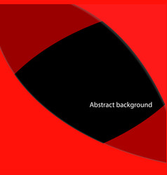 Red geometric with black abstract back ground vector