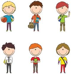 School boys vector