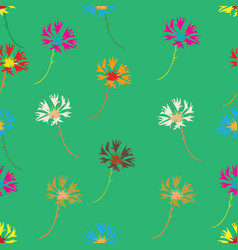 Seamless background with wildflowers vector