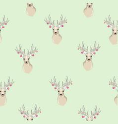 Seamless deer pattern vector