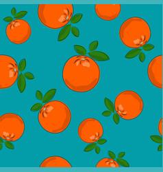 Seamless pattern orange on azure background vector