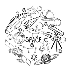 set space elements vector image