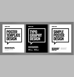 simple template design with typography for poster vector image