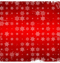 Snowflake pattern on aged card vector image