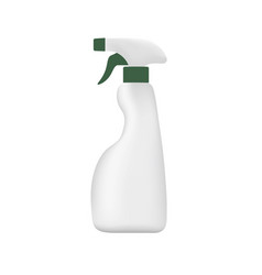 Spray bottle on white background plastic vector