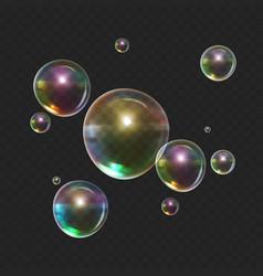 stock color realistic bubble vector image