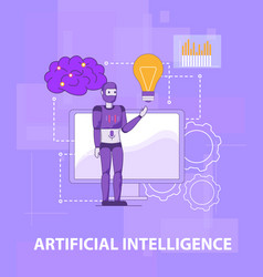 Test smart self learning artificial intelligence vector