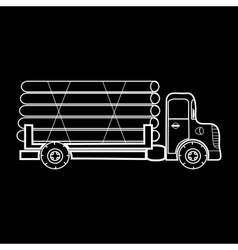 truck transporting timber logs timber vector image