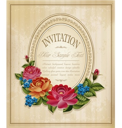 Vintage frame and faded paper vector