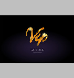Vip gold golden text word on purple background vector
