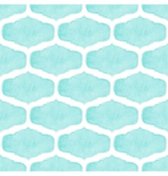 Watercolor seamless pattern with victorian frames vector image