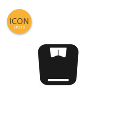 weight scale icon isolated flat style vector image