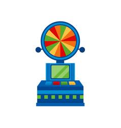 wheel fortune arcade game vending machin vector image