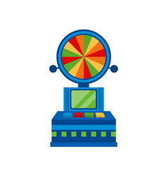 wheel of fortune arcade game vending machin vector image