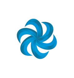 abstract circle 3d swirl logo image vector image