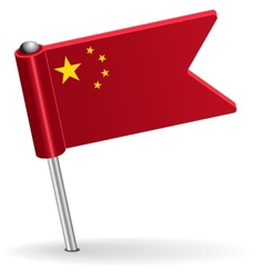 Chinese pin icon flag vector image